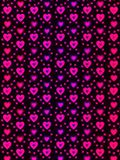 A hologram paper made of hearts and love in ultraviolet and pink colors for wallpaper or backgrounds.  Stock Photo