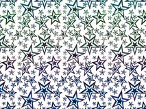 A hologram paper made of stars and different colors for backgrounds, packaging, or wallpapers.  Royalty Free Stock Photos