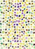 A hologram paper made of stars and different colors for backgrounds, packaging, or wallpapers.  Royalty Free Stock Images