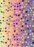 A hologram paper made of stars and different colors for backgrounds, packaging, or wallpapers.  Stock Photography