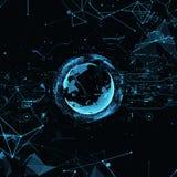 Hologram Planet Earth. royalty free illustration