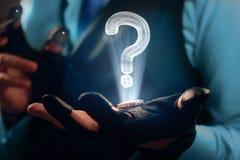Hologram_question 免版税库存照片