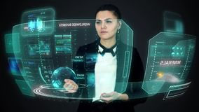 Hologram screens stock footage