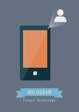 Hologram technology Royalty Free Stock Image