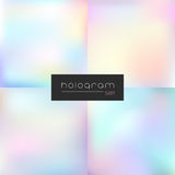 Hologram vector light gradient set. Four holographic vector gradient set Royalty Free Stock Photos
