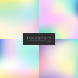 Hologram vector rainbow gradient set Royalty Free Stock Images