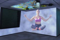 Hologram woman 3d mixed media Stock Photography