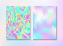 Holograma 80, cartel retro del vintage del vector del partido 90 imágenes de archivo libres de regalías