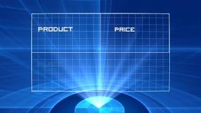 holograma da mistura do mercado 4P video estoque