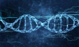Holograma da tecnologia do ADN ilustração do vetor