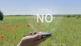 Holograma de ningún encendido un smartphone metrajes