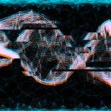 Holograma del efecto de la interferencia del anáglifo Fotografía de archivo