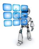 Holograma do robô e das teclas ilustração royalty free