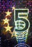 Holograma en un Bill euro Fotografía de archivo
