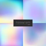 Holograma gradientu wektorowy średni set Fotografia Stock