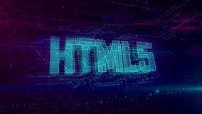 Holograma HTML5 stock de ilustración