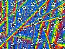 Holograma papier robić gwiazdy i różni kolory dla tło, pakować lub tapet, ilustracji