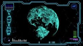 Holograma poligonal do planeta filme