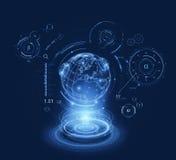 Hologramm-Welthud-schnittstelle Lizenzfreie Stockfotos