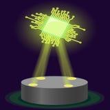 Hologrammchip CPU Neue Technologie Vektor Lizenzfreie Stockfotografie