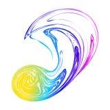 Hologramme abstrait de vecteur de fond de tache floue de tache d'arc-en-ciel, éclaboussure de couleurs, transition dynamique de c Image stock