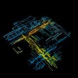 hologramme 3d Photo libre de droits