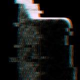 Hologramme d'effet de problème d'anaglyphe Photo stock