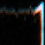 Hologramme d'effet de problème d'anaglyphe Photographie stock libre de droits