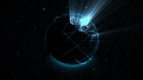 Hologramme de globe de Digital illustration stock