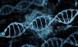 Hologramme de technologie d'ADN Image stock