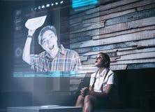 Hologrammvideoanruf stock abbildung
