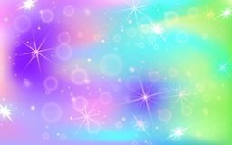 Holographic abstract background. Mother-of-pearl graphic template for brochure, flyer, poster design, wallpaper, mobile. Screen royalty free illustration
