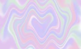 Holographic background heart shaped twirl - illustration royalty free illustration