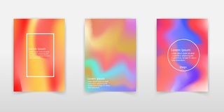 Holographic background. Holo sparkly cover. Abstract soft pastel stock illustration