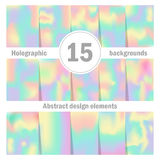 Holographic backgrounds. Abstract Royalty Free Stock Images