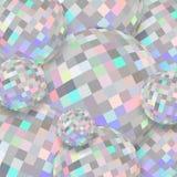 Holographic begåvningkristallkulor 3d Abstrakt begrepp skimrar diamanttextur stock illustrationer