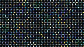 Holographic blue green yellow dots mosaic pattern. Abstract glitter disco background. royalty free illustration