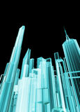 Holographic city Stock Image