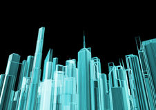 Holographic city Royalty Free Stock Photos