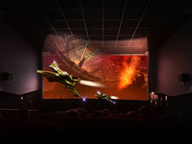 Holographic 3D cinema Royalty Free Stock Photo