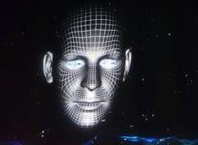 Holographic Face Stock Photos