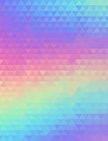 Holographic geometric vector background. 80s and 90s fashion design. Hologram vibrant style, trend art poster Royalty Free Stock Photography