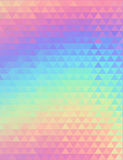 Holographic geometric vector background. 80s and 90s fashion design. Hologram vibrant style, trend art poster Royalty Free Stock Photos