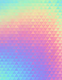 Holographic geometric vector background. 80s and 90s fashion design. Hologram vibrant style, trend art poster Stock Photo