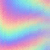 Holographic geometric vector background. 80s and 90s fashion design. Hologram vibrant style, trend art poster Royalty Free Stock Photo