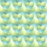 holographic hjärtor Arkivfoto