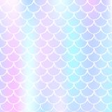 Holographic mermaid background with gradient scales. vector illustration