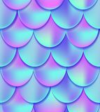 Holographic mermaid tail seamless pattern. Mermaid card decor e
