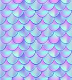 Holographic mermaid tail seamless pattern. Mermaid card decor e. Lement. Fish scales magic background. Print design for textile, posters, greeting cards, cases Royalty Free Illustration
