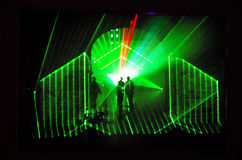 Holographic projection in Kunsthalle Budapest stock image